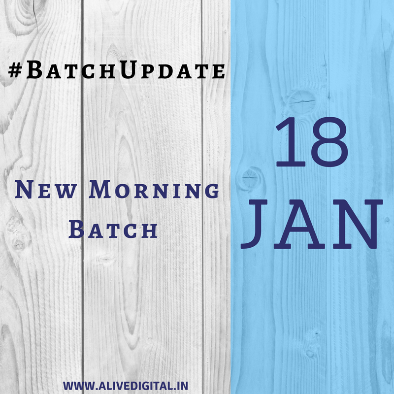 18th Jan(New Morning Batch)