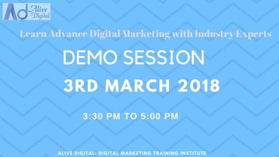 Digital Marketing demo session by Alive Digital