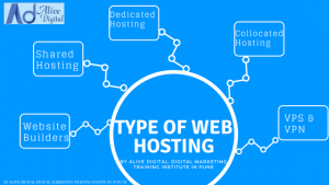 Types of Web Hosting by Alive Digital Digital marketing Training Institute in Pune