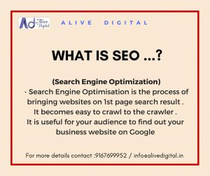 SEO (Search engine optimization) by Alive Digital Digital Marketing Training Institute