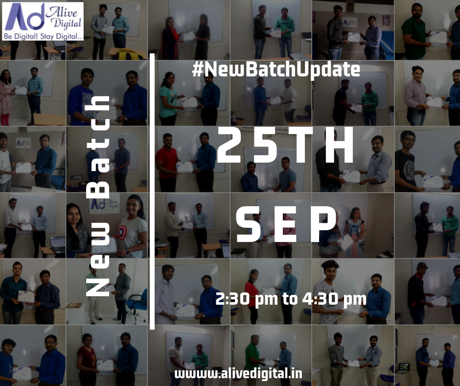 New Batch Update (25th Sep)