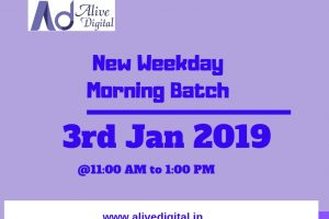 Digital Marketing New Morning Batch Jan 2019