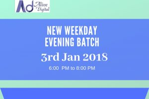 Digital Marketing New Evening Batch Jan 2019