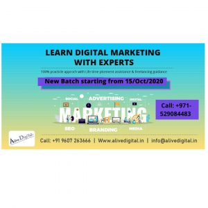 Starting new Digital Marketing Batch for Dubai Students from 15th Oct 2020